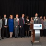 Group Photo of Navy Federal Credit Union accepting the award for FCPS Business Partner of the Year