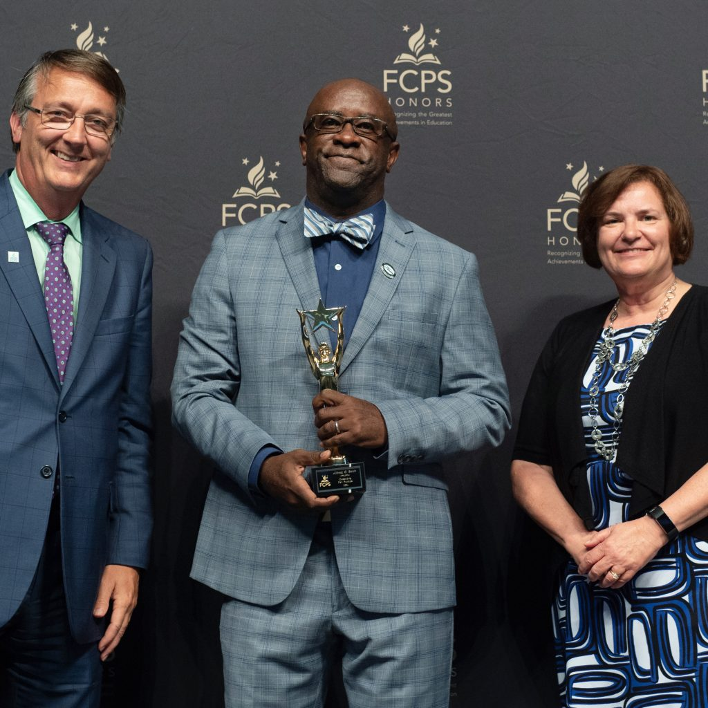Alfonso G. Smith, Outstanding New Principal with Dr. Brabrand and Nannette Henderson, Innovation Health