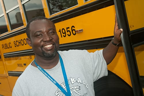 Photo of male FCPS Bus driver